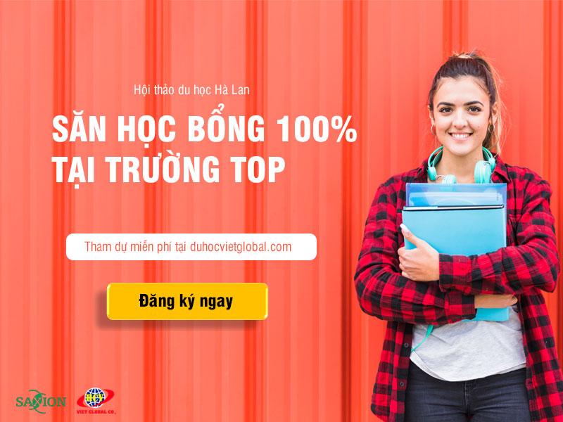 """Du học Hà Lan: Học bổng 100% từ trường """"Top"""" Hà Lan có kỳ thực tập"""