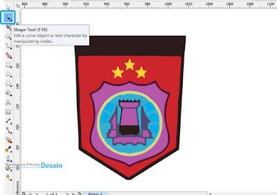 Klik Shape Tool pada Toolbox