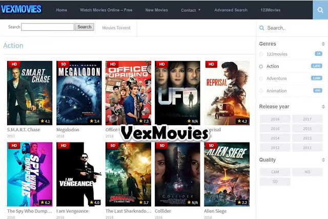 VexMovies : Free Movie Streaming Sites No Sign Up