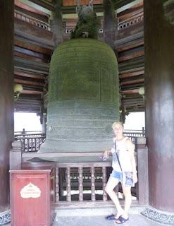 Ninh Binh. La Pagoda Bai Dinh. Bell Tower.