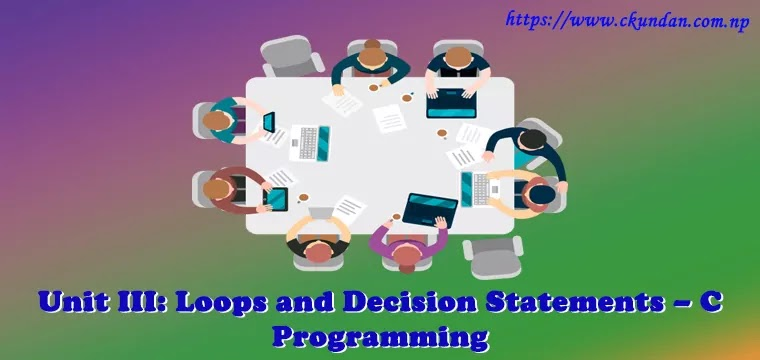Loops and Decision Statements – C Programming