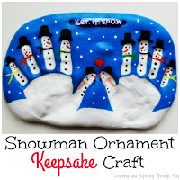 Snowman Keepsake Salt Dough Ornament.