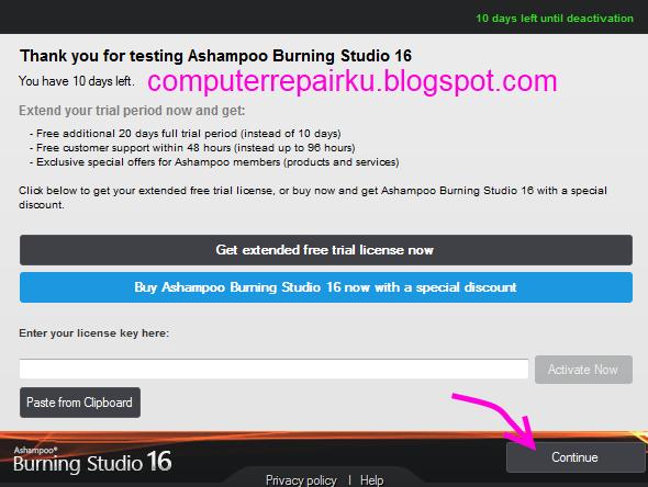 ashampoo burning studio 20 serial key