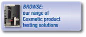 Browse our range of cosmetic product testing solutions
