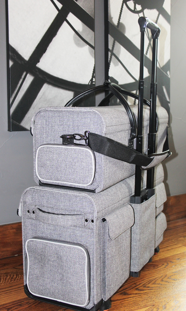 Stacking tweed Cricut storage totes