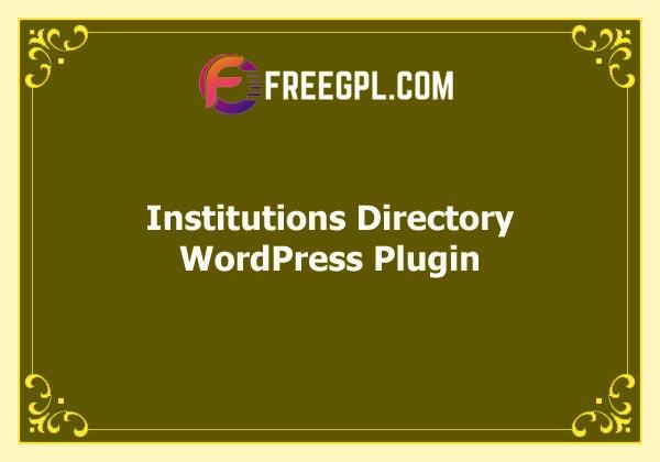 Institutions Directory WordPress Plugin Free Download