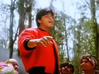 shah rukh khan dancing on train