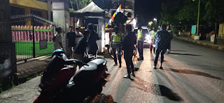 Kasat Lantas Polres Pinrang Akp Dharmawary Terjun Langsung Bubarkan Balapan Liar