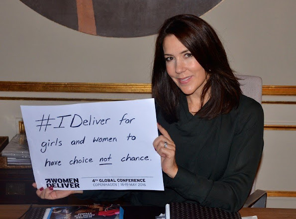 Princess Mary The Women Deliver 2016 Conference and gave the message #IDeliver