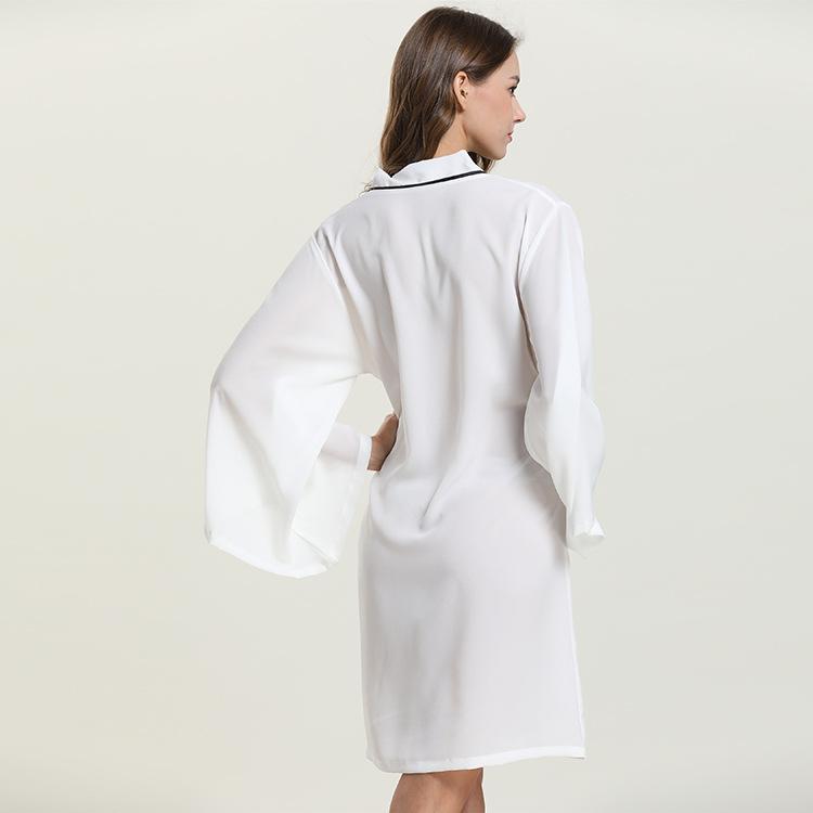 Áo choàng voan kimono form rộng thướt tha 3