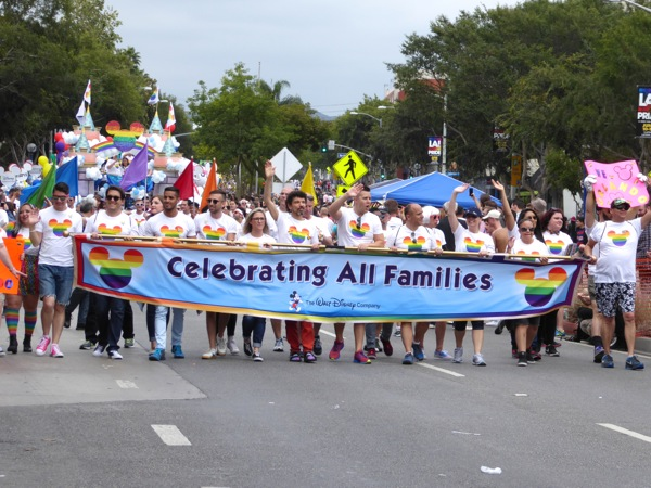 LA Pride Parade Disney participants