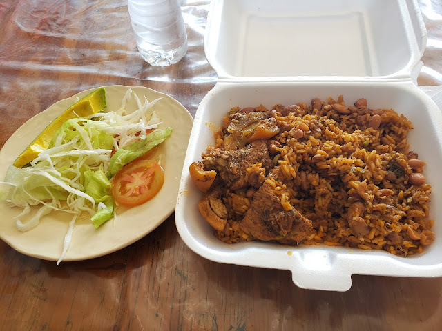 pork rice beans cafeteria santo domingo dominican republic