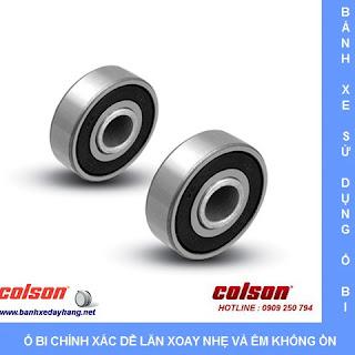 Bánh xe cao su xoay khóa Colson ty ren phi 100mm | STO-4854-448BRK4 sử dụng ổ bi bạc đạn