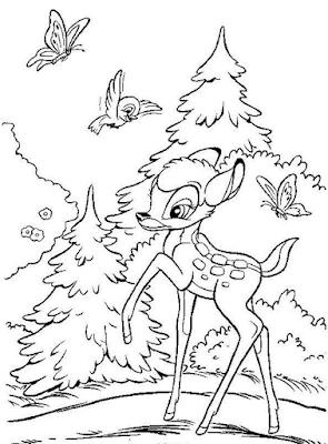 Gambar Mewarnai Bambi - 4