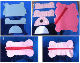 Tutorial 1 membuat dompet pensil teddy bear