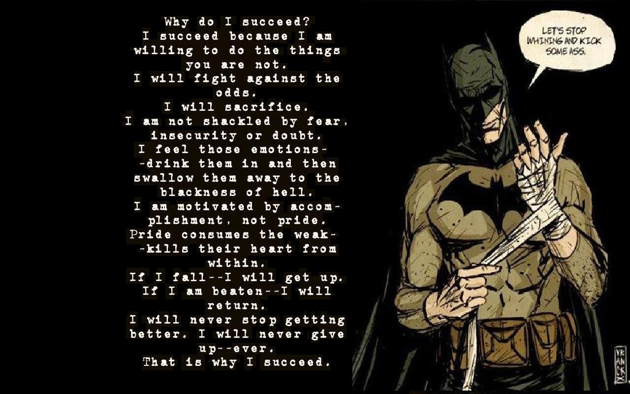 Frase Por Qué Tengo éxito Batman Batmanday No Hagas Lo