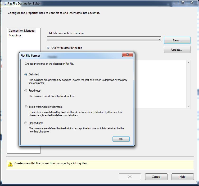 Configure Flat File Destination