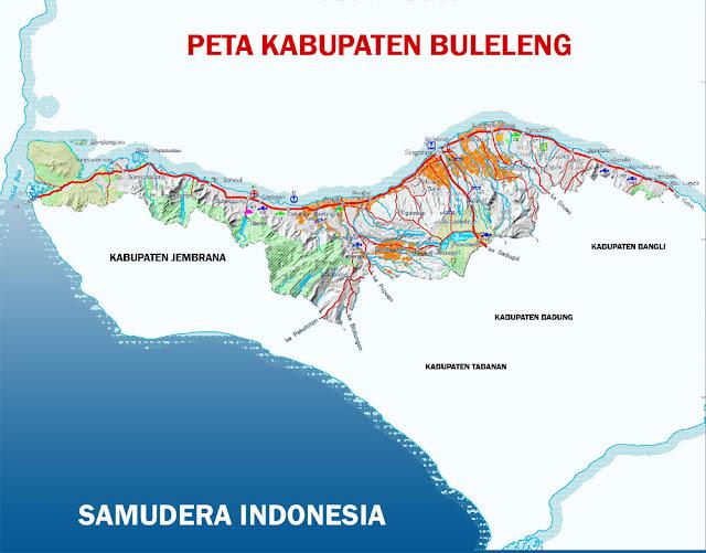 Gambar Peta infrastruktur Kabupaten Buleleng Lengkap
