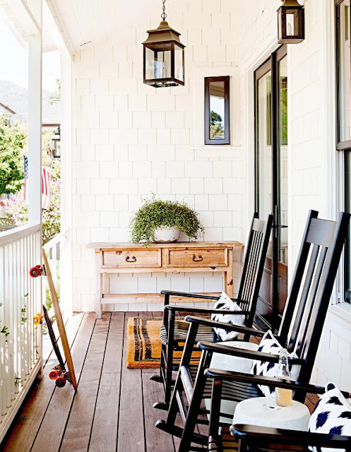 Comfortable furniture on the porch with Seating