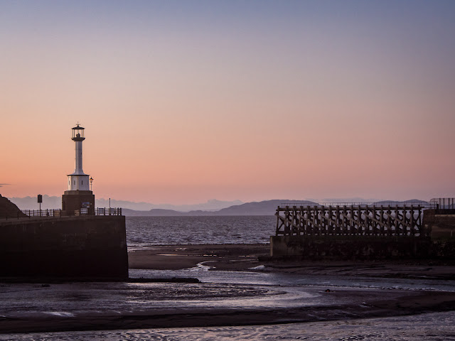 Photo of a closer view of Maryport Lighthouse