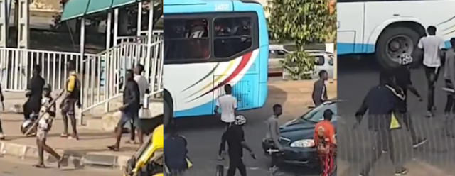 Again, armed thugs disrupt #EndSARS protest in Lagos