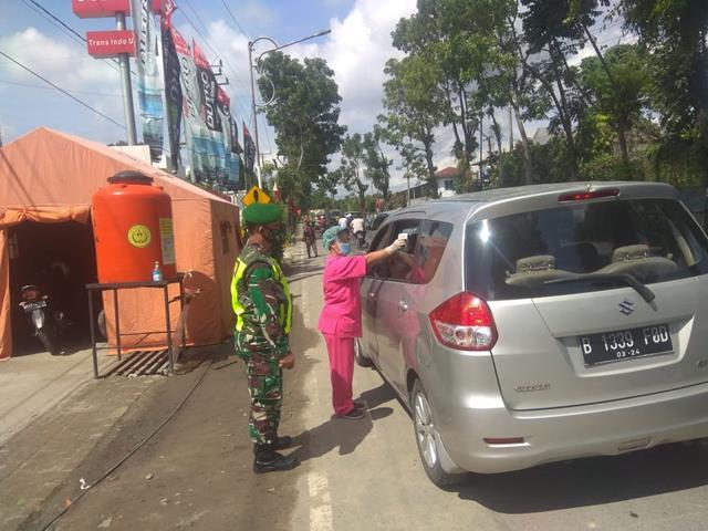 Diwilayah Binaan, Personel Jajaran Kodim 0207/Simalungun Laksanakan Penegakan Disiplin Protokol Kesehatan