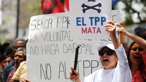 Colectivos protestan en Perú contra TPP y visita de Obama