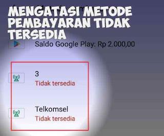Cara Mengatasi Pembayaran Via Pulsa Di Play Store Tidak Tersedia
