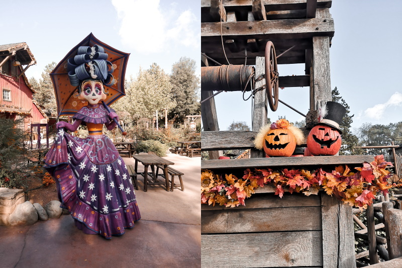 décorations halloween de frontierland Disneyland Paris citrouilles