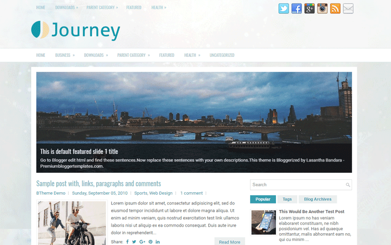 Journey Free Blogger Template