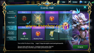 Hadiah Login Mobile Legends
