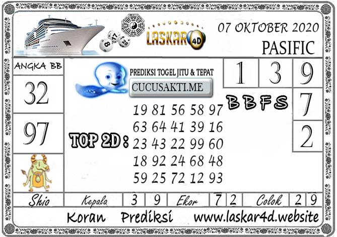 Prediksi Togel PASIFIC LASKAR4D 07 OKTOBER 2020