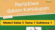 Materi Kelas 5 Tema 7 Subtema 1
