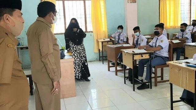 Plt Kepala Dinas Pendidikan Aceh Lakukan Sidak ke Beberapa SMK dan SMA