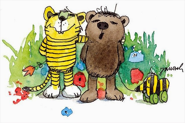 miś, tygrysek i nowi przyjaciele - rodzinka z innego świata