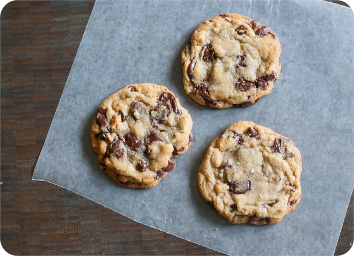big batch NYT chocolate chip cookies
