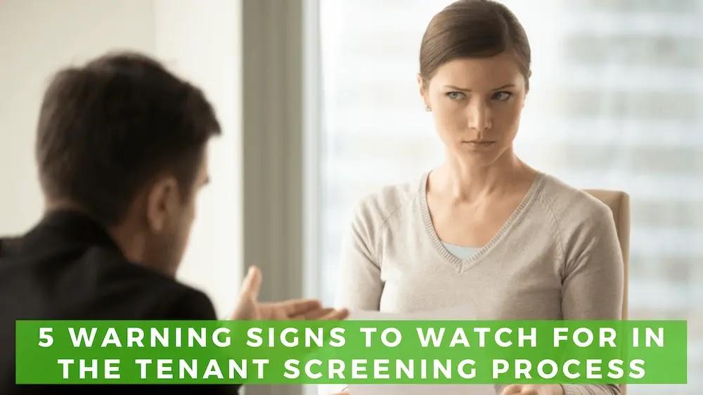 Warning Signs of a Bad Tenant