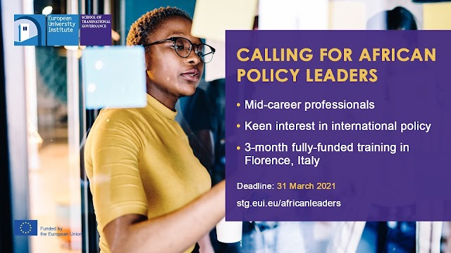 Young African Leaders Programme: 3-month Fully-Funded Training in Florence, Italy (Deadline: March 31, 2021)