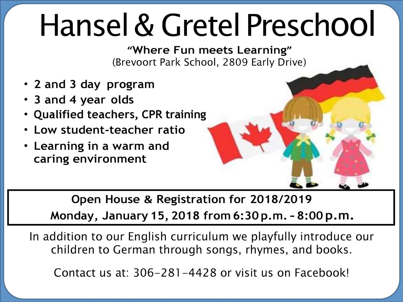Hansel And Gretel Preschool Inc