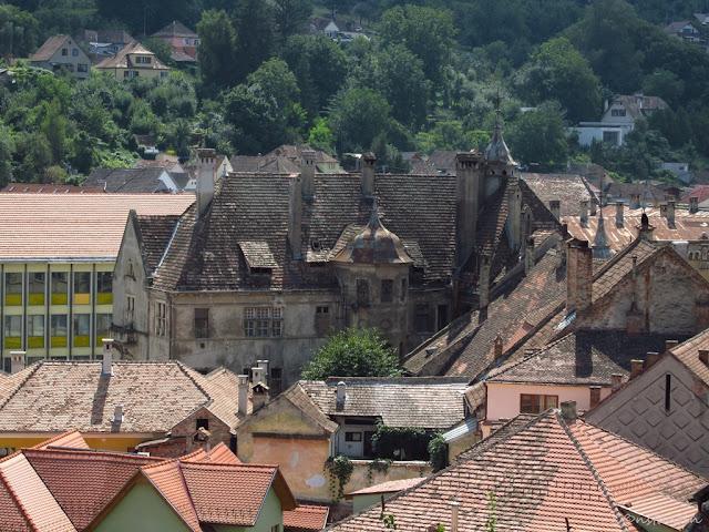 Sighişoara - vedere spre oraşul de jos - blog FOTO-IDEEA