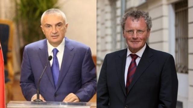 Albanian President Ilir Meta declared non grata the OSCE ambassador to Tirana Bernd Borchardt