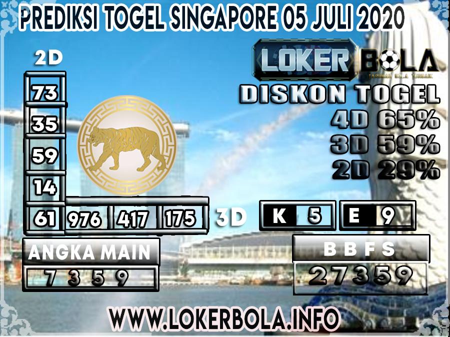 PREDIKSI TOGEL SINGAPORE LOKERBOLA 05 JULI 2020