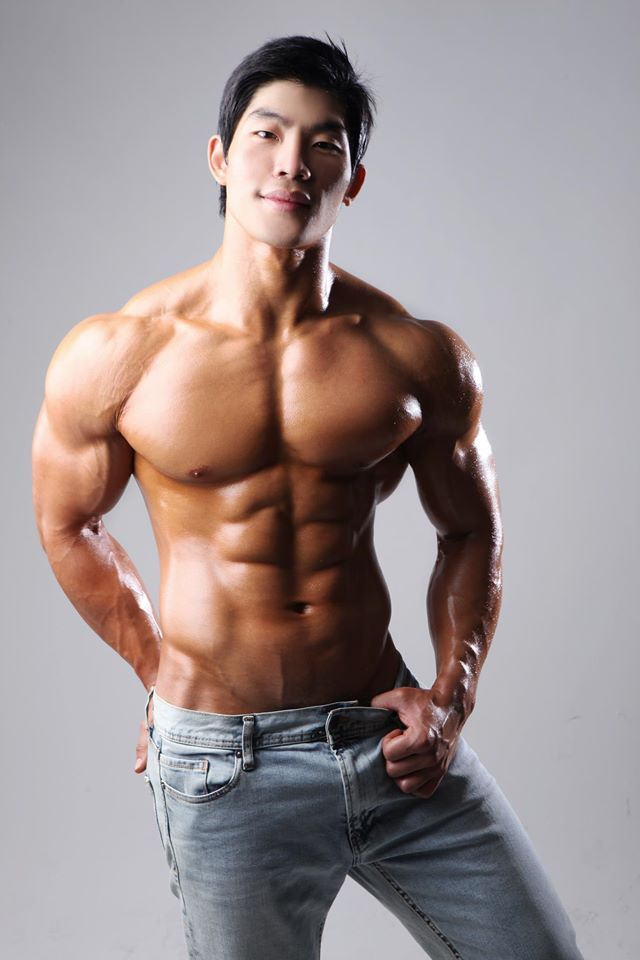 Good sport asian male muscle