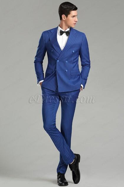 verticle stripes custom men suits party tuxedo