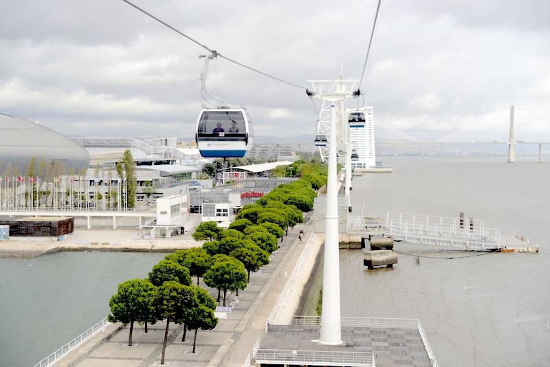 Parque das Naçoes, Park Narodów kolejka lizbona punkt widokowy