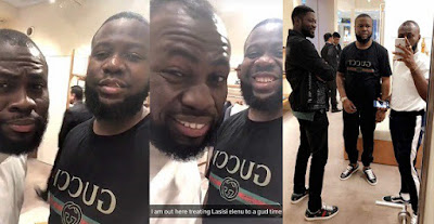 Hushpuppi takes Lasisi Elenu Gucci shopping | Watch