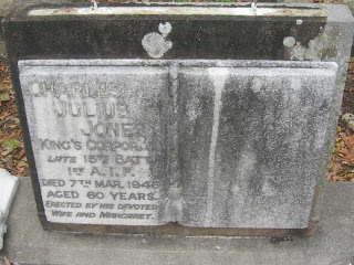 Grave of CJ Jones in South Brisbane Cemetery (T Olivieri)