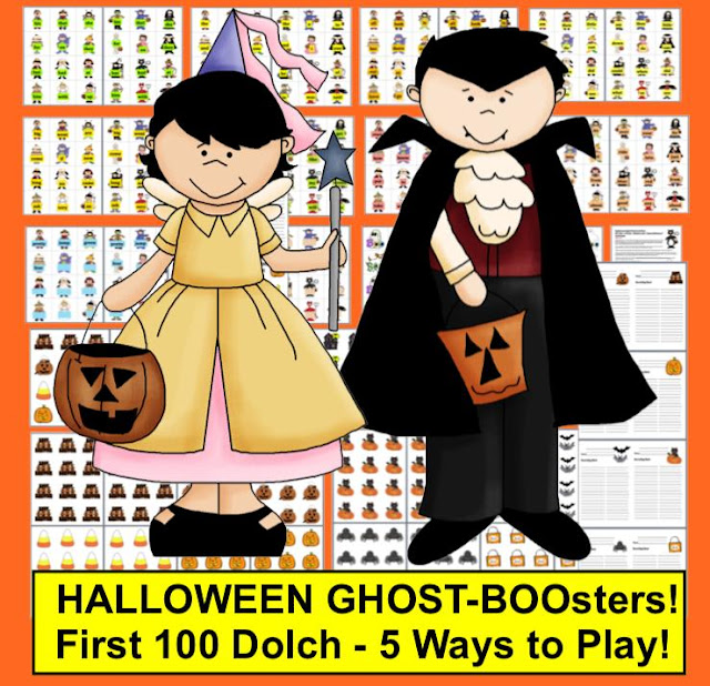 https://www.teacherspayteachers.com/Product/Halloween-Sight-Words-Centers-Ghost-BOOsters-and-More-First-100-Dolch-384222