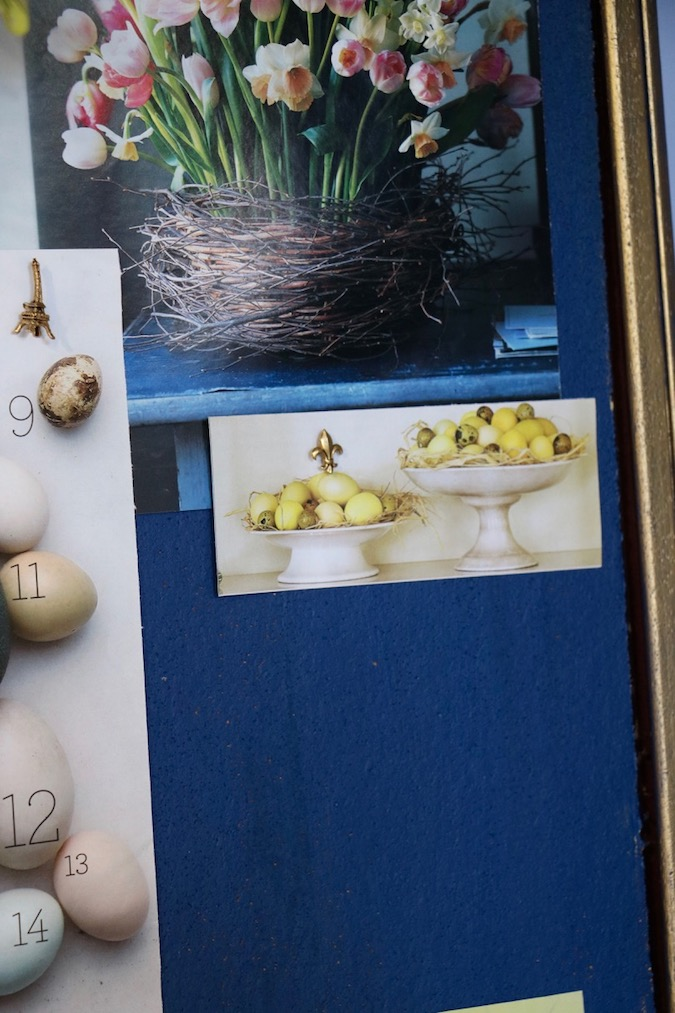 Don't hesitate to use small clippings on bulletin boards created for inspiration