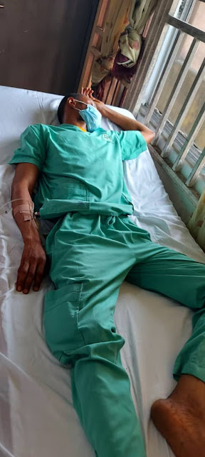 Unpaid Nigerian doctor collapses after 72-hour shift